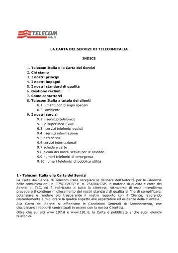 Carta Servizi Telecom Italia - Intermatica
