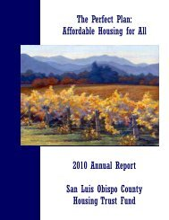 2010 Annual Report - The San Luis Obispo County Housing Trust ...