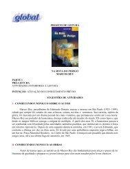PROJETO DE LEITURA NA ROTA DO PERIGO ... - Global Editora