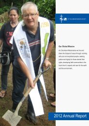 2012 Annual Report - St Columbans Mission Society