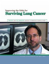 Surviving Lung Cancer - Mallinckrodt Institute of Radiology