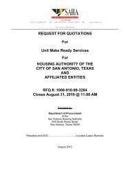 REQUEST FOR QUOTATIONS For Unit Make Ready Services For ...