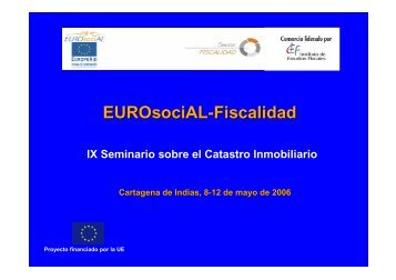 EUROsociAL-Fiscalidad