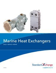 Marine Heat Exchangers Sales, Service, Repair - Standard Xchange