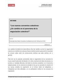"""""""Los nuevos convenios colectivos: ¿Un cambio en el ... - CCOO"""
