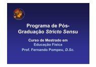Programa de Pós- Graduação Stricto Sensu ç