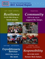 Download the 2011 Annual Report - USO Metropolitan Washington