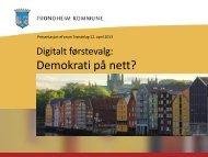Trondheim kommune - Digitalt førstevalg