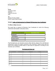 Letter of Authorization From: Company name: Address: To: Etisalat ...