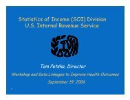Statistics of Income (SOI) - National Committee on Vital and Health ...