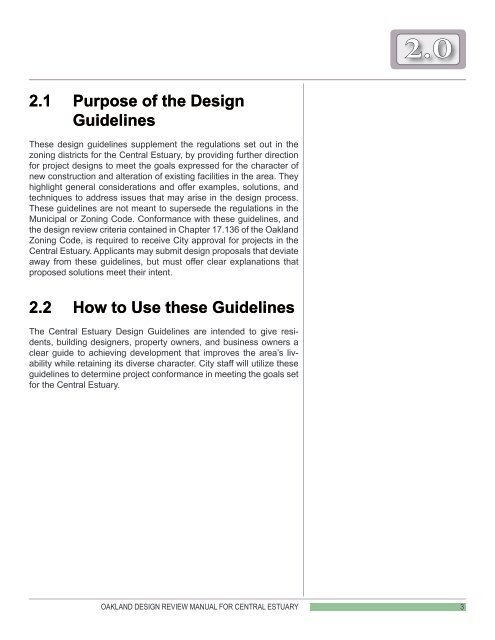 Oakland Design Review Manual for the Central ... - City of Oakland
