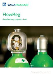 Flowreg - Intergrert flaskeregulator - Yara Praxair