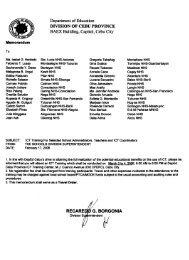 Memorandum - DepEd Cebu Province