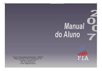 2007-1 Manual do Aluno1.cdr - Unifia.edu.br