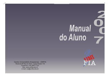 2007-1 Manual do Aluno1.cdr - Unifia.edu.br