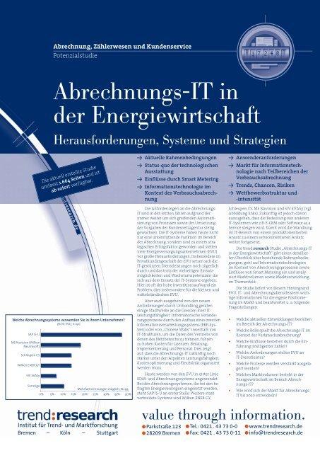 Abrechnungs-IT in der Energiewirtschaft - trend:research
