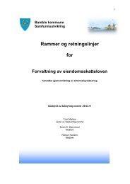 Rammer og retningslinjer for takst - Bamble kommune