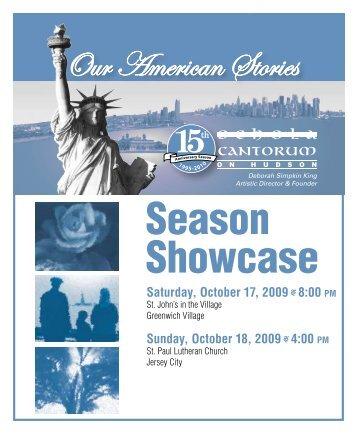Season Showcase - Schola Cantorum on Hudson