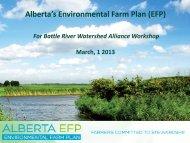 Alberta's Environmental Farm Plan (EFP) - Battle River Watershed ...