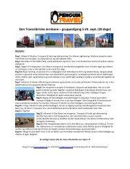 Den Transsibiriske Jernbane – gruppeafgang 5-24 ... - Penguin Travel