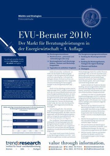 EVU-Berater 2010.indd - trend:research