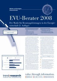 EVU-Berater 2008 - trend:research