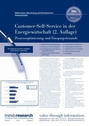 Customer-Self-Service in der Energiewirtschaft (2 ... - trend:research