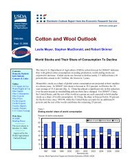 Cotton and Wool Outlook - USDA Economics and Statistics System