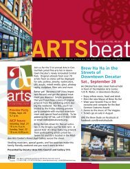 Summer 2013 ARTSbeat Newsletter - Decatur Area Arts Council