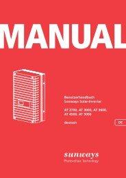 Manual AT-Serie - Sunways AG