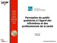 Perception du public québécois à l'égard des infirmières et des ... - FiQ