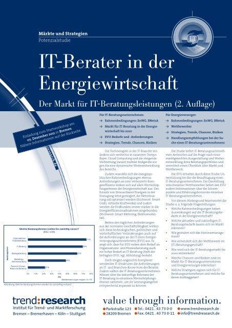 IT-Berater in der Energiewirtschaft - trend:research