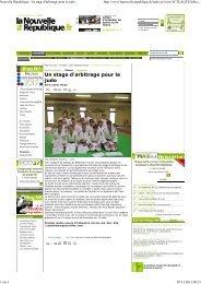 Stage d'arbitrage Judo - Judo Club Langeais - Wifeo