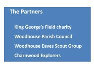 Presentation on the fundraising - Woodhouse Parish Council
