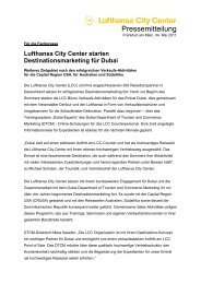 Lufthansa City Center starten Destinationsmarketing ... - Counter.net