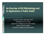 An Overview of GIS Methodology and Its Applications in Public Health