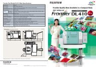 Frontier Dry Minilab DL410 Main Specifications - Fujifilm