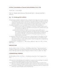Criminalization of Female Genital Mutilation Act of 1996 - Intact