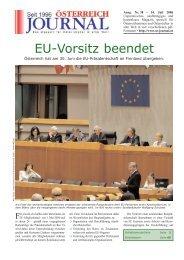 EU-Vorsitz beendet - Österreich Journal
