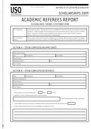 academic referees report - University of Southern Queensland