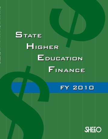 View SHEF FY 2010 Final Report (PDF) - SHEEO