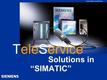 "Teleservice - Lösungen in ""SIMATIC"""