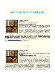 VISITE GUIDATE OTTOBRE 2008 - Comune di Napoli