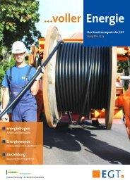 aktuelle Ausgabe - EGT Energie