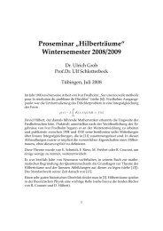 "Proseminar ""Hilberträume"" Wintersemester 2008/2009"