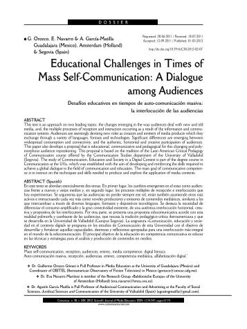 Educational Challenges in Times of Mass Self ... - Comunicar