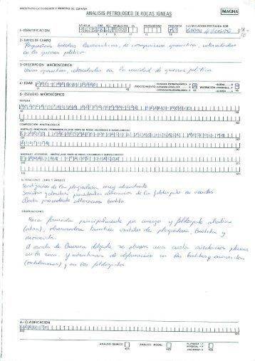 Fichas análisis petrológico rocas ígneas - Instituto Geológico y ...