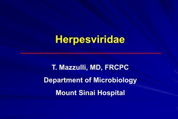 Herpesviridae II - Infectious Diseases