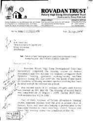 ROVADAN TRUST Progress Report.tif - Vanbandhu Kalyan Yojana