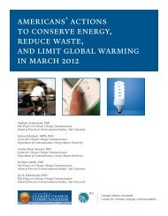 americans' actions to conserve energy, reduce waste, and limit ...